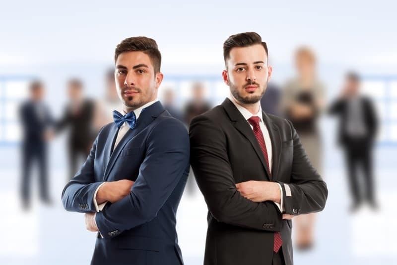 Two Business Men Lawyers